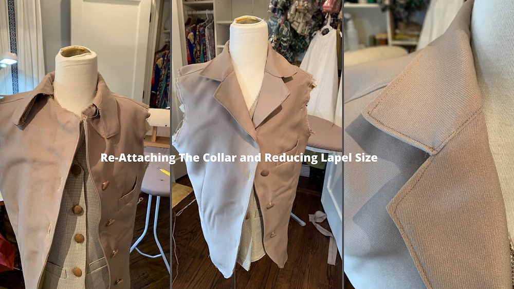 Reattaching Collar and Lapel