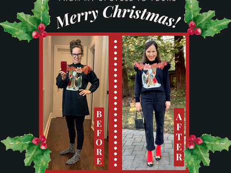 Refashion 'Ugly' Christmas Sweater into a Cute 'Ugly' Christmas Sweater