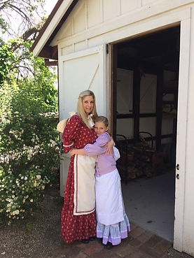 Upcycle Pioneer Mother and DaughterCostume from thrifted materials