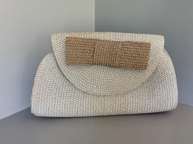 1980's straw handbag