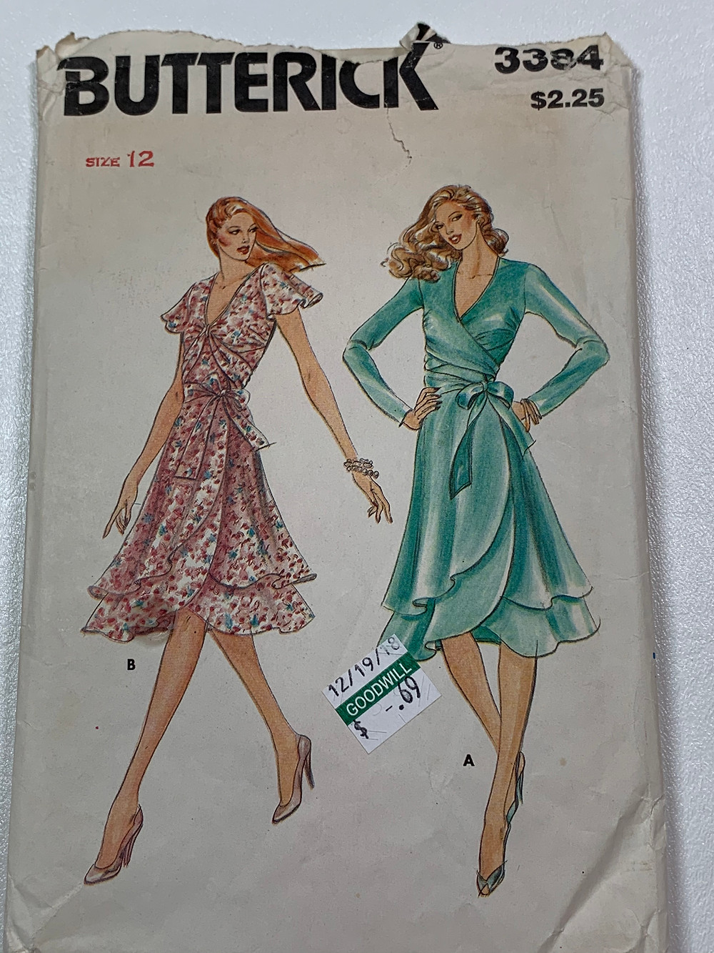 Butterick 3384 sewing pattern