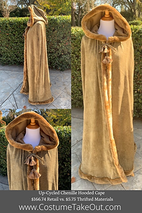 Upcycle Hooded Cape for Frozen Jr., Viking, Dickens, Victorian, Medieval, Renaissane costume