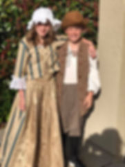 Upcycle American Colonial Sister and Brother Costumes