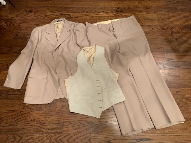 3 Piece Thrifted Polyester Man's Suit