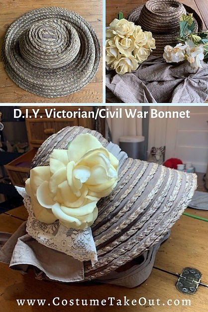 DIY Victorian/Civil War Bonnet, Wax Museum Emily Dickinson