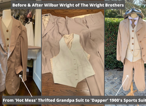 DIY Wilbur Wright Costume for Wax Museum--The Wright Brothers...I Lean Female