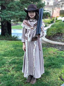 Upcycle Annie Oakely Costume