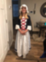 Upcycle Betsy Ross Costume from thrifted materials