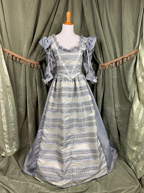 Blue and Silver Renaissance Gown