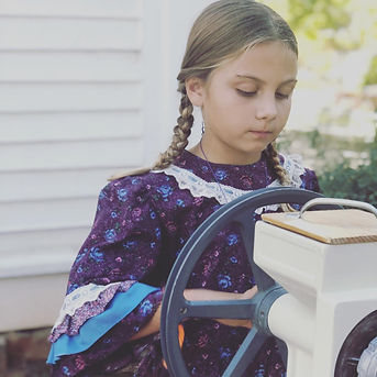 Upcycled Girl's Pioneer Dress