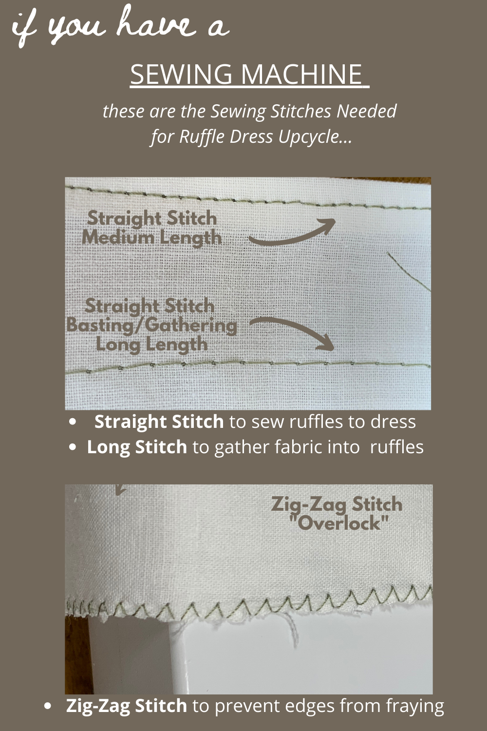 image of stitches to use for beginner upcycle