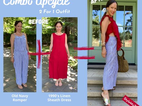 Refashion Old Navy Romper & Upcycle 90's Dress...Side-Boob