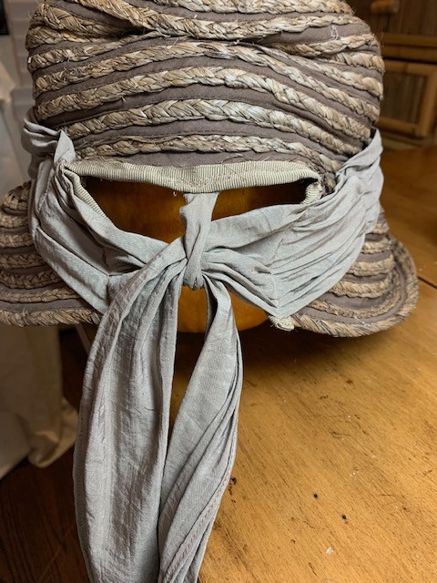 Criss-Cross Sashing to keep Victorian Bonnet on head