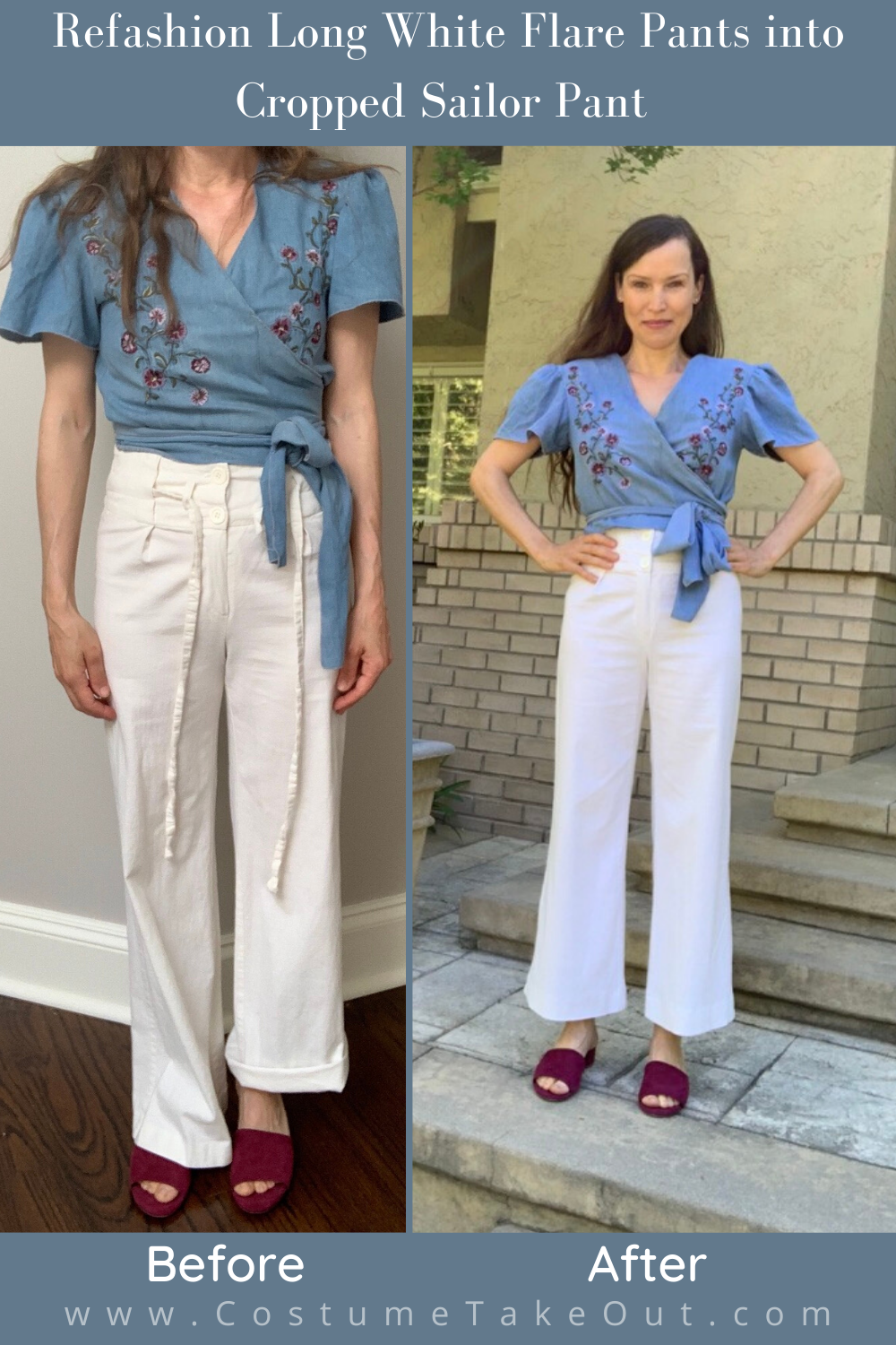 Refashioned Sailor Pant