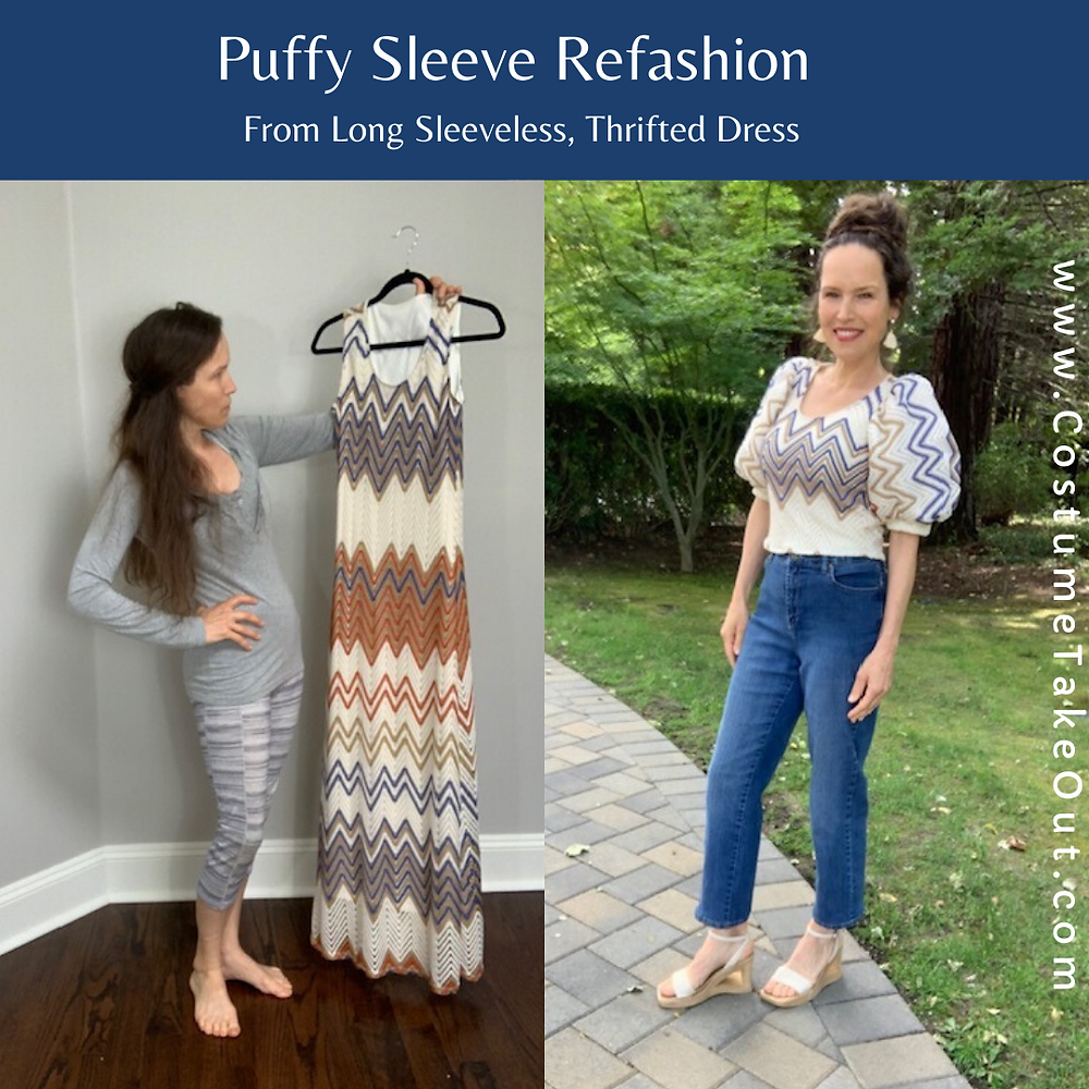 puffy sleeve refashion