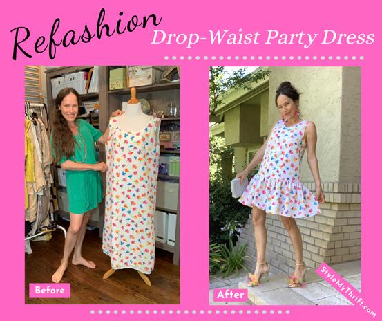 Refashioned Drop-Waist Party Dress