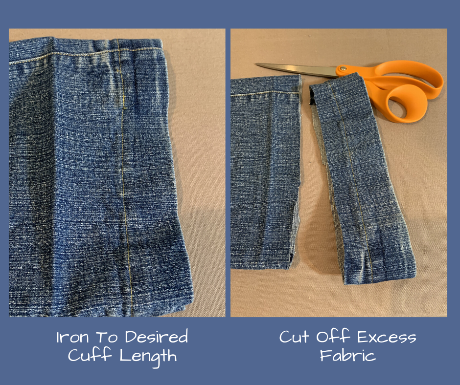 press new hem length and cut excess