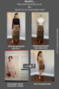 Anthropolgie Estelle Dress Copy-Cat, Gold Metallic Tiered Dress