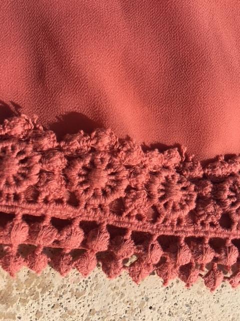 hemmed skirt
