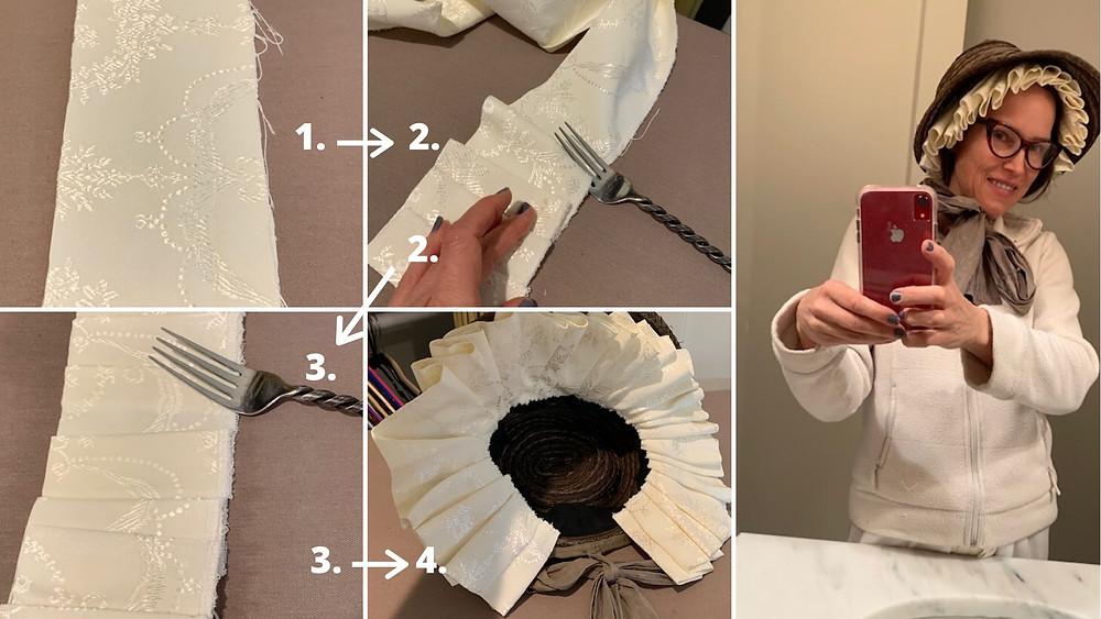 Fork Pleating for Bonnet Internal Fluff