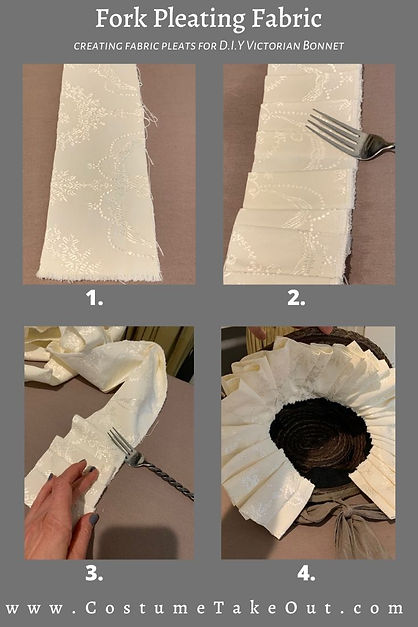 Fork Pleating for DIY Victorian/Civil War Bonnet