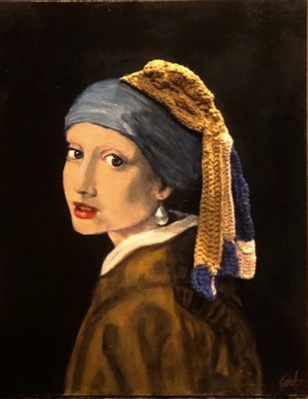 Remix of Vermeer's Girl with a Pearl Earring
