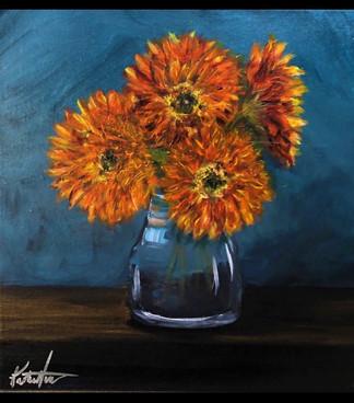 Dixter Orange Chrysanthemums