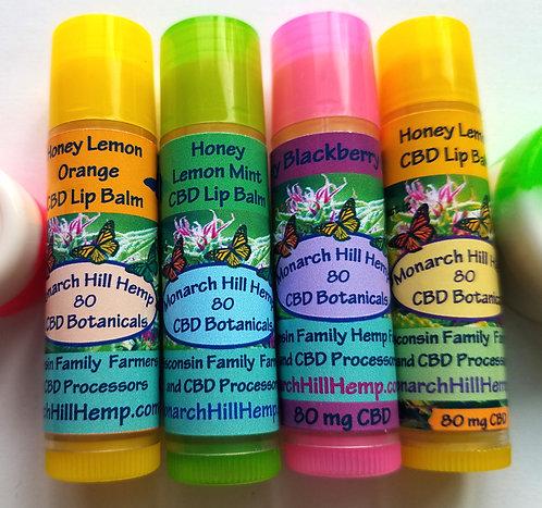 4 Pack Honey CBD Lip Balm: 4 Varieties