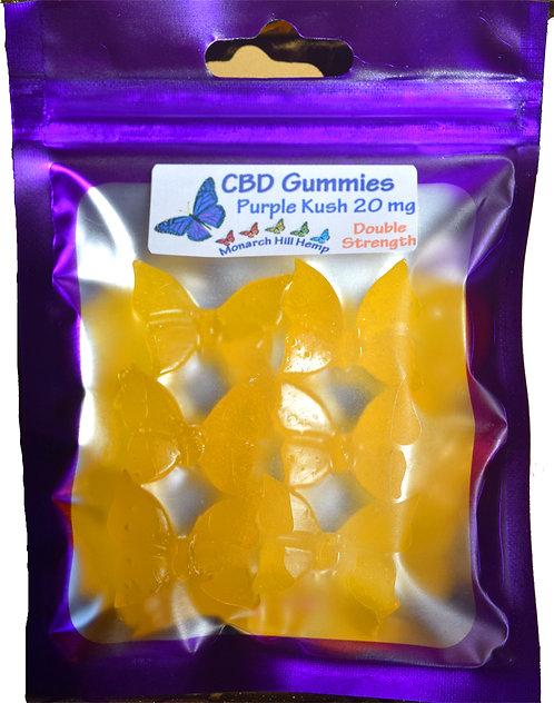 Gummies 20 mg 6 pc Double Strength