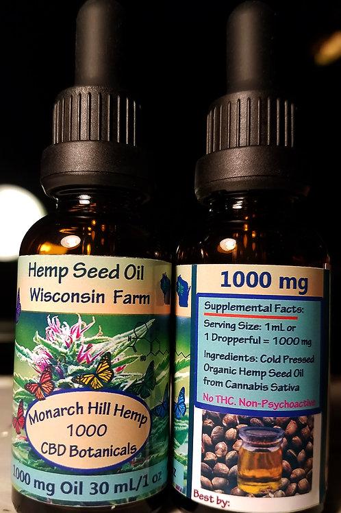 2 pack Hempseed Oil Organic, Cold-pressed, Unrefined