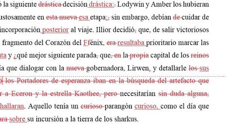 Las correcciones de Lucía Herguedas