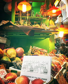 Enjoy citizz. Enjoy Hong Kong. 10 differences at the wet market in Hong Kong. Activity and colouring book for kids.