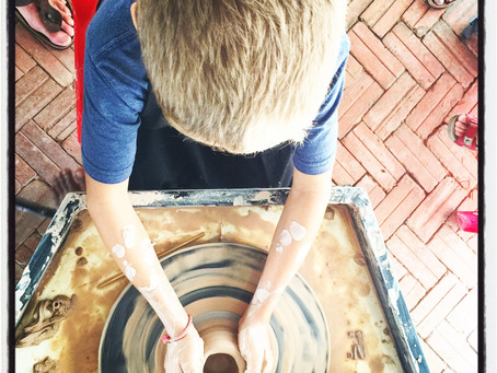 Ceramic art in Siem Reap – making memories the kid-friendly way.