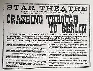 star crashing through to berlin war 1919