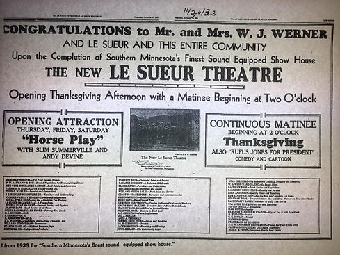 11 20 1933 the new lesueur theatre werne