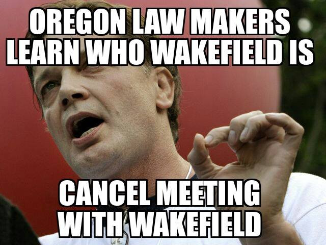 Dr. Wakefield Goes to Oregon...or Not.
