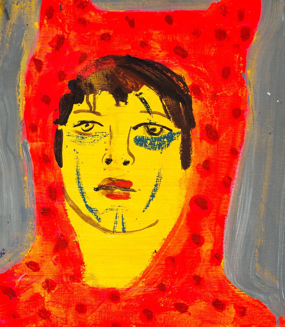 Marie Peter-Toltz MON COEUR QUI BAT 2018 \ Oil on canvas \ 20 x 18 inches Courtesy of the Artist and NANDA/HOBBS Gallery, Sydney (Australia). nanda/hobbs info@nandahobbs.com