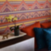 "Mosaic design for a ""girl cave"". Los Feliz spanish house project."