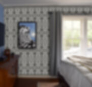 Tribal print for master bedroom. Hollywood/Orange home.