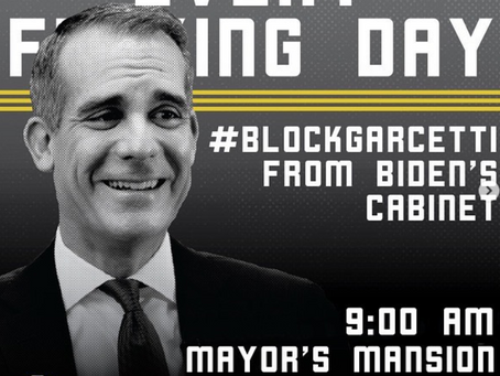 BLM takes aim at Mayor Eric Garcetti
