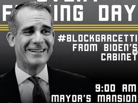 BLM takes aim at Mayor Eric Garcetti