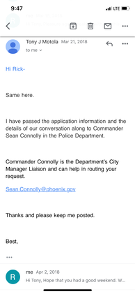 Phoenix Police Department and Mayors Off