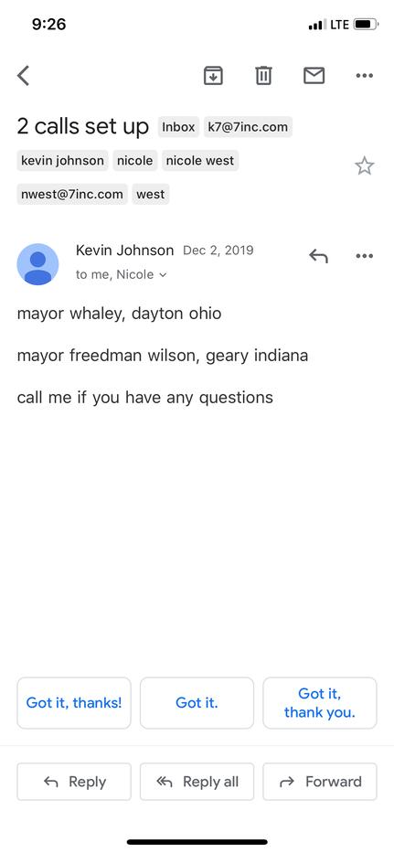 Mayor Johnson setting up more meetings w