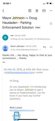 Mayor Kevin Johnson providing reference