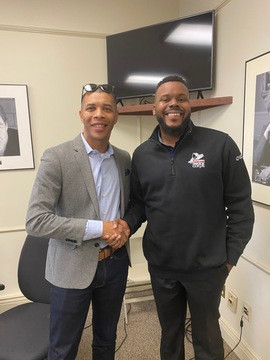 Mayor Michael Tubbs and Derek Bluford.jp