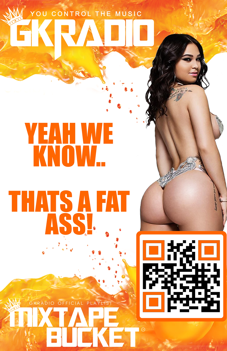 11x17 gkradio request poster orange QR C