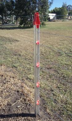Aluminium Post with Twistie Insulators and Post Cap Extension