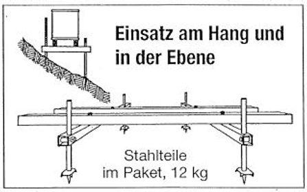 Beutenständer für Hanglage