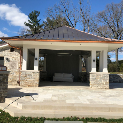 Simple Stone Pool House