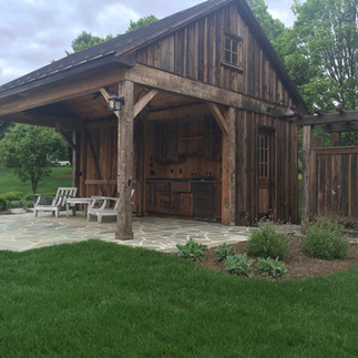 Wood Poolhouse